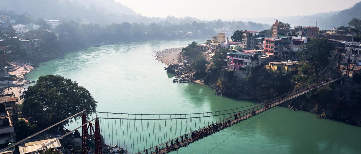 Ram Jhula bridge Rishikesh